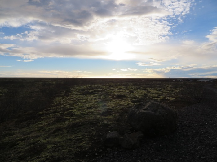 At Skaftafell, looking back toward the vast Skeiðarársandur delta