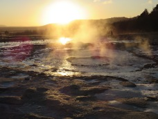 The Strokkur geyser at Geysir, in a moment of repose