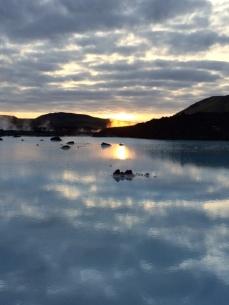 A late November morning outside of the Blue Lagoon