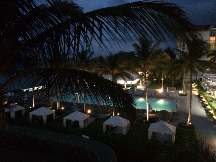 View from our unexpected balcony at the Hilton Rose Hall Resort