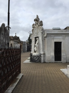 A peaceful side street in Cementerio de la Recoleta