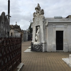 A peaceful side street in Cementerio de la Recoleta