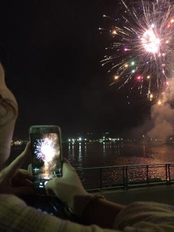 Fireworks over the Mississippi River (New Orleans)
