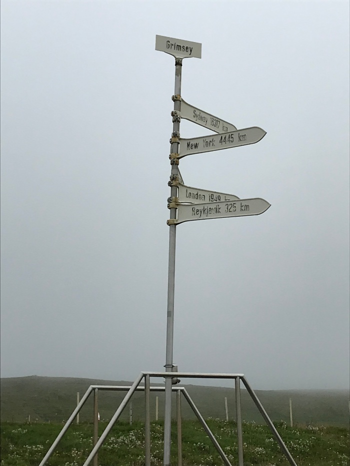 The First Arctic Circle Monument on Grímsey
