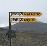 Signpost to Askja