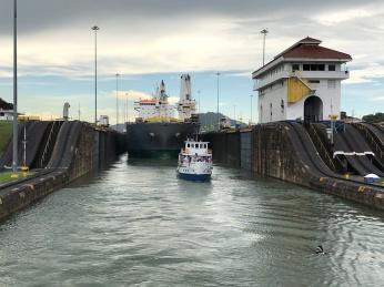 Escape from Miraflores Locks, Panama Canal