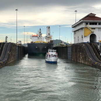 Escape from Miraflores Locks, Panama Canal
