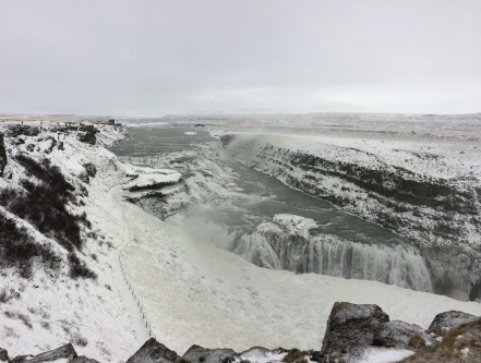 Gullfoss (Nov 2016). This is not a black and white photo.