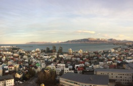 Reykjavík from the top of Hallgrímskirkja (Nov 2016)
